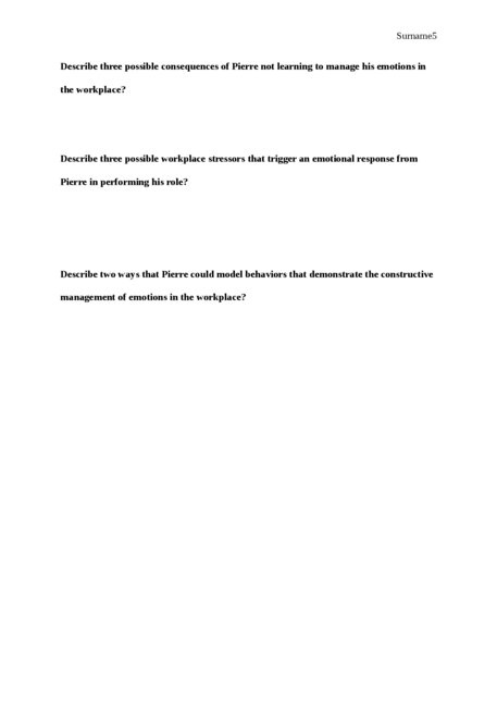 Case Study Questions on Emotional Intelligence - Page 5