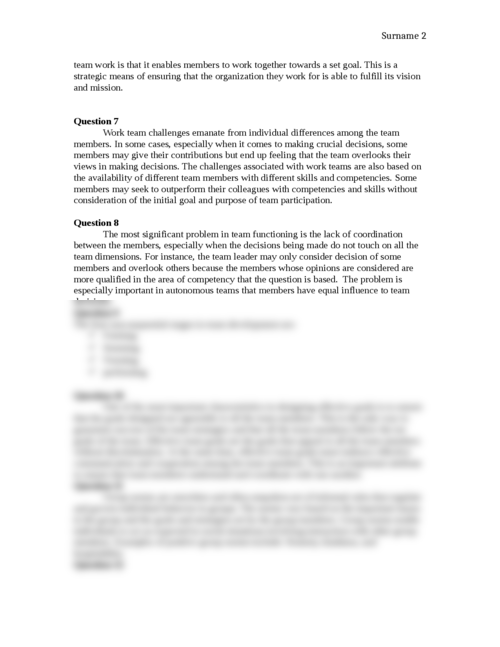 Questions on team success - Page 2
