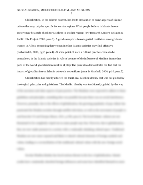 Globalization, Multiculturalism and Muslims - Page 3