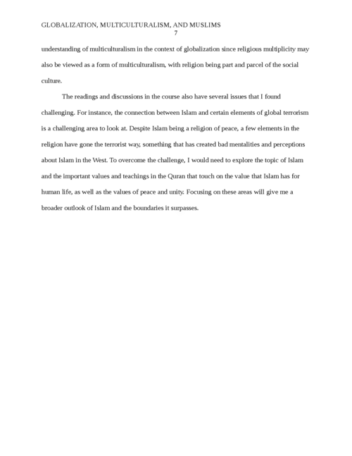 Globalization, Multiculturalism and Muslims - Page 7