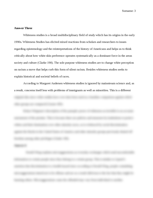 Racism and White Privilege  - Page 3