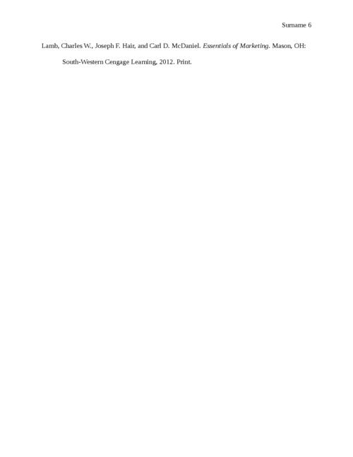 Career Marketing Plan - Page 6