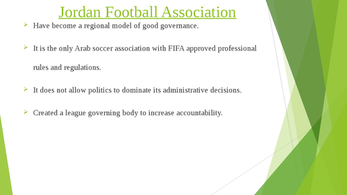 Governance of Arab Football: case studies of Qatar and Jordan - Page 5