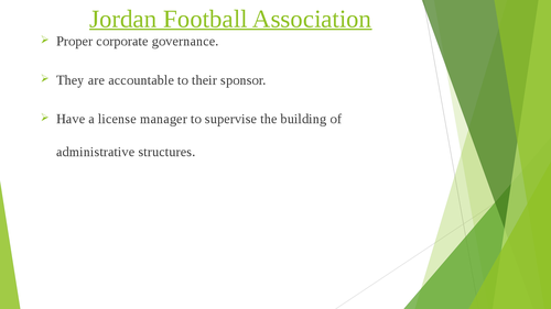 Governance of Arab Football: case studies of Qatar and Jordan - Page 6