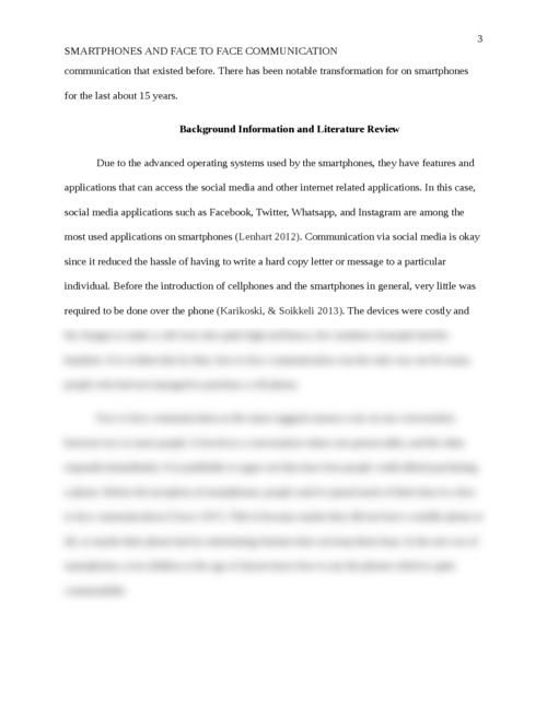 Research Paper on the Effects of Smart Phones in Face to Face Communication between People - Page 3
