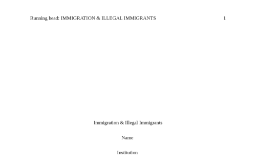 Immigration & Illegal Immigrants
