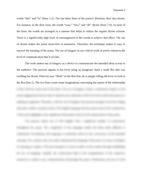 Poem Analysis: The Flea - Page 2