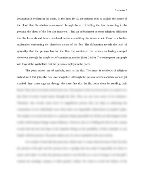 Poem Analysis: The Flea - Page 3