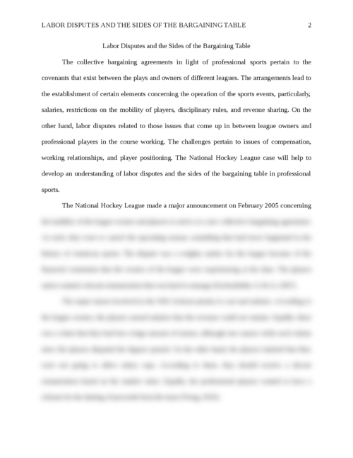 Labor Disputes and the Sides of the Bargaining Table - Page 2