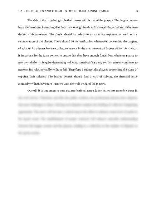Labor Disputes and the Sides of the Bargaining Table - Page 3