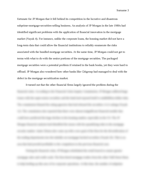 The Effect of the Financial Crisis on JP Morgan Chase and how the Firm Reacted - Page 3