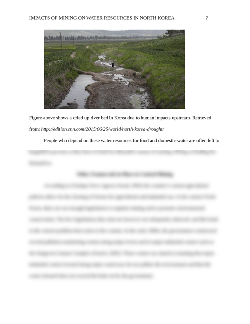 Impacts of Mining on Water Resources in North Korea - Page 7
