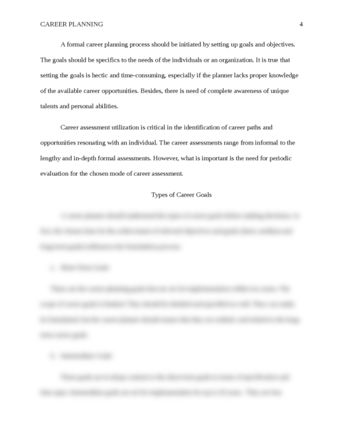 Essay on Career Planning - Page 4