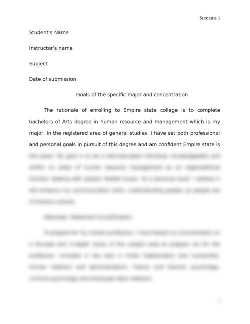 Acamdeic Plan/Rationale