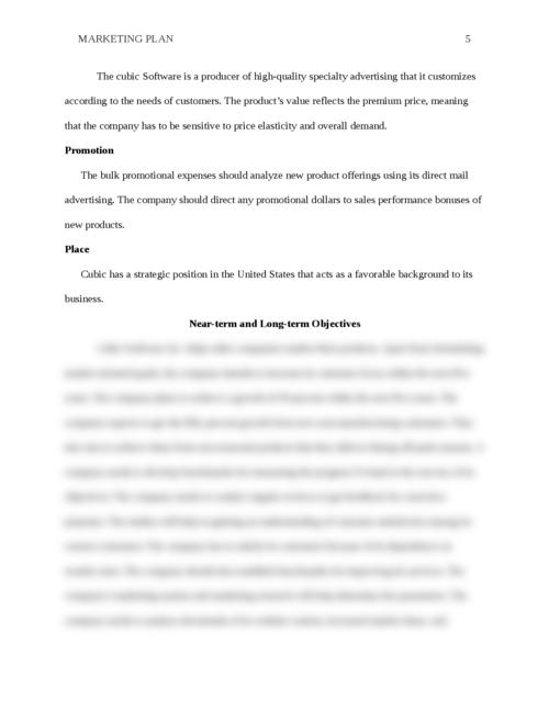 Marketing Plan pt 1 - Page 5