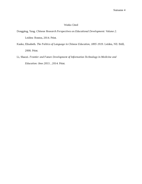 Essay on Chinese education problem - Page 4