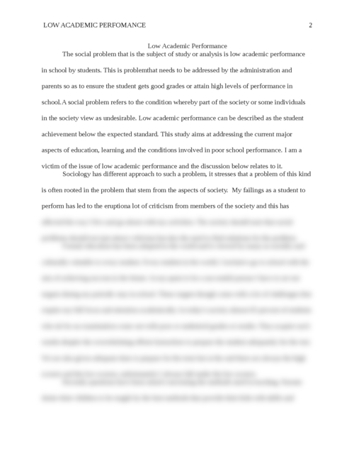 Low Academic Performance - Page 2