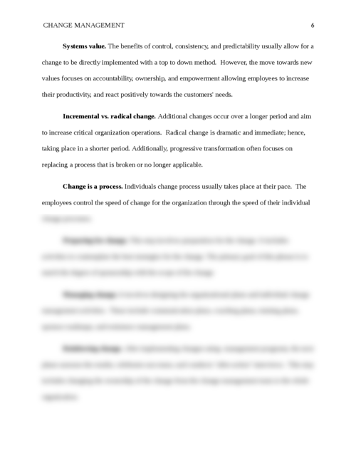 Change Management and its Importance - Page 6
