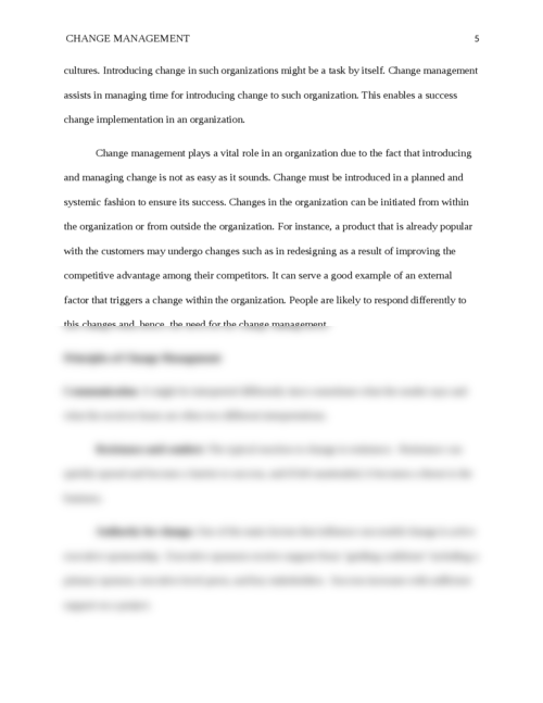 Change Management and its Importance - Page 5
