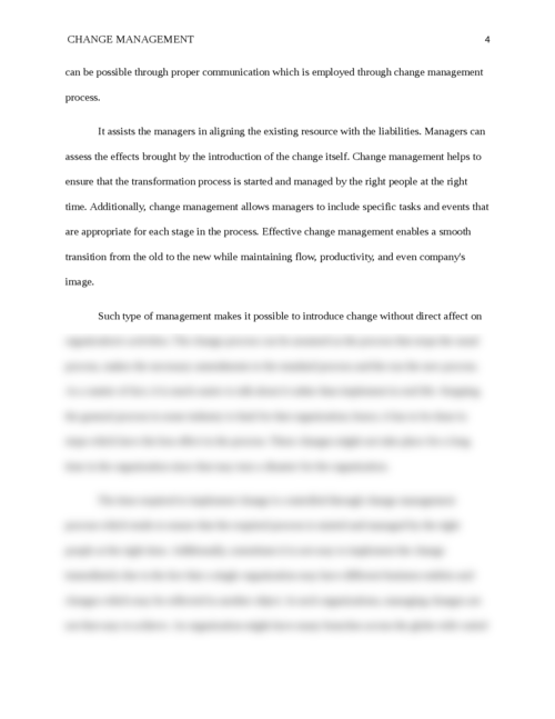 Change Management and its Importance - Page 4
