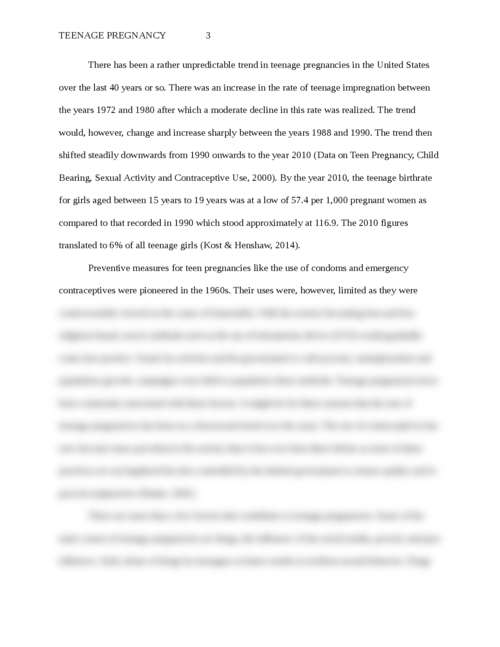 Essay on teen pregnancy - Page 3