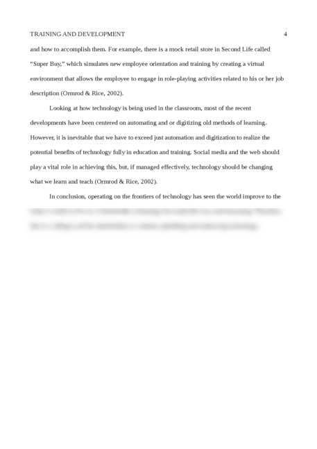 Training and Development - Page 4