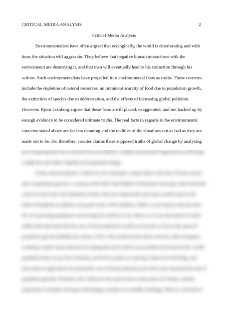 Critical Media Analysis - Page 2