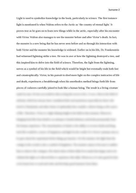 Symbolism in Frankenstein - Page 2