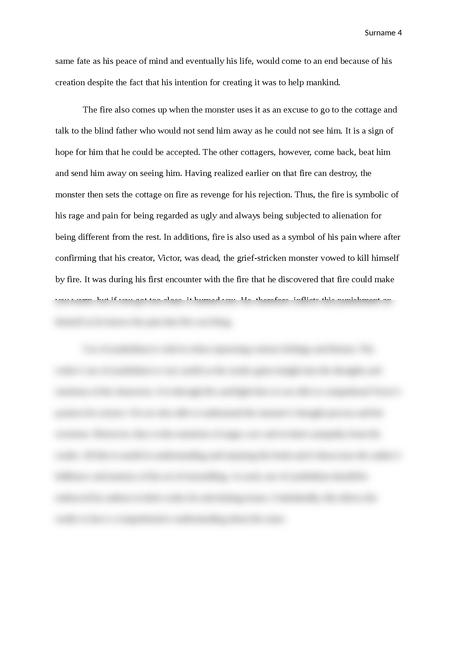 Symbolism in Frankenstein - Page 4