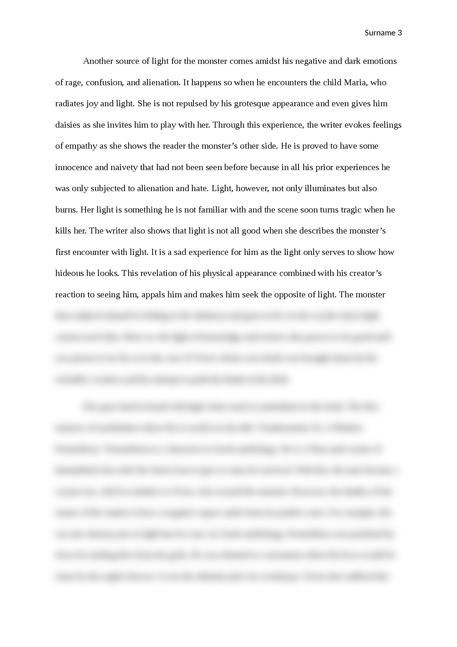 Symbolism in Frankenstein - Page 3