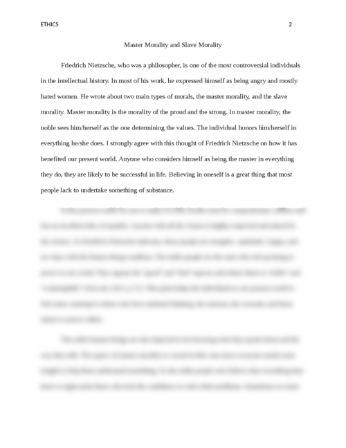 Master Morality and Slave Morality - Page 2