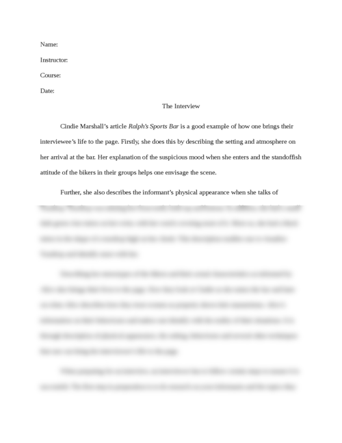 The Interview - Page 1
