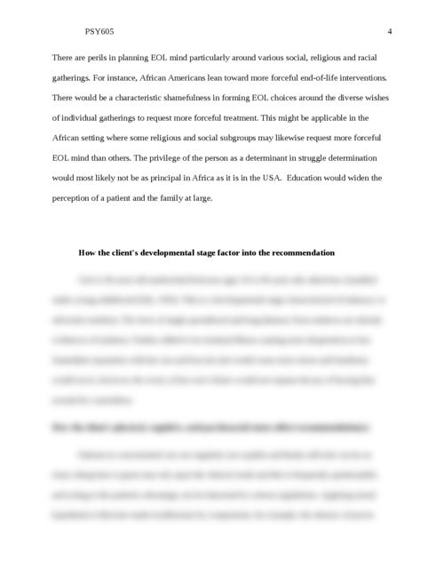 PSY605 End-of-Life Case Scenarios Case 1: - Page 4