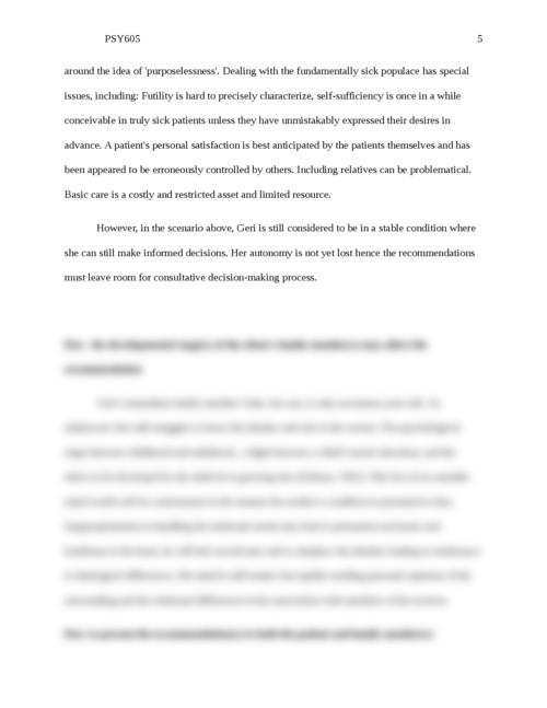 PSY605 End-of-Life Case Scenarios Case 1: - Page 5
