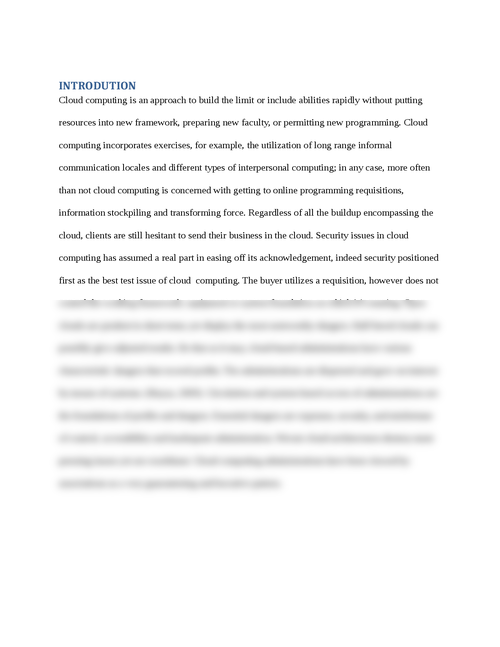 Case Study 1: Mitigating Cloud Computing Risks - Page 3