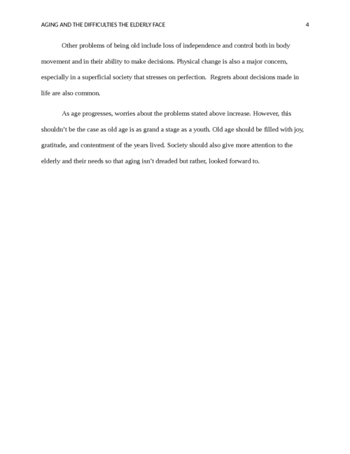 Aging and the Difficulties the Elderly Face - Page 4
