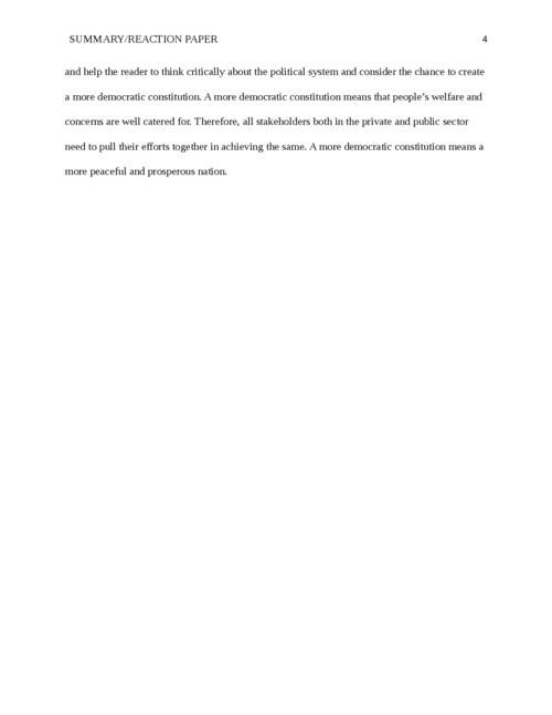 Reflection Essay: The American Constitution    - Page 4