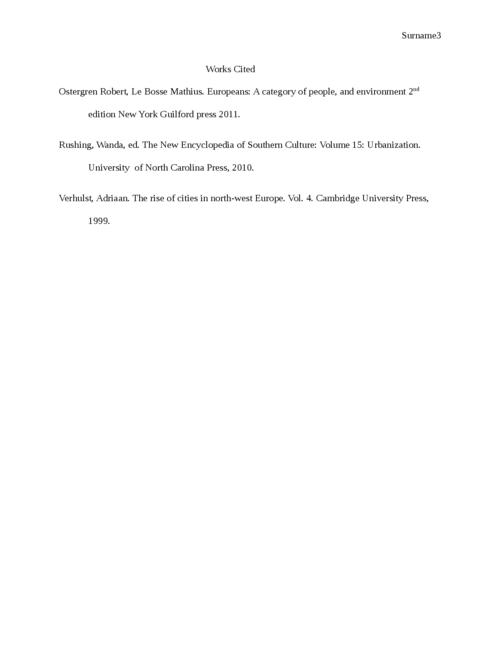 Essay on European urbanization - Page 3
