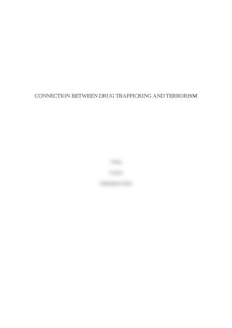 Connection between drug trafficking and terrorism - Page 1