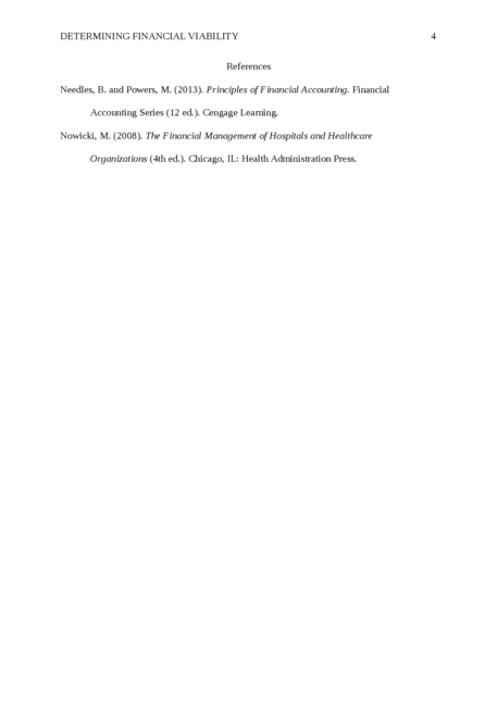 Determining Financial Viability - Page 4