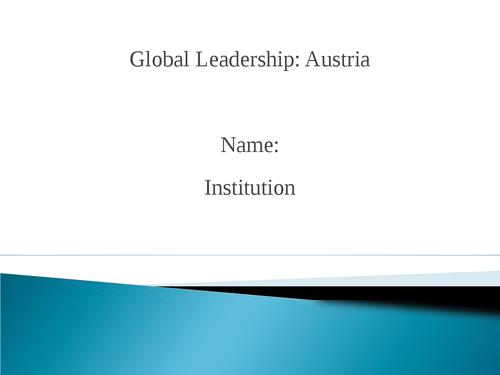 Global leadership: Austria - Page 1
