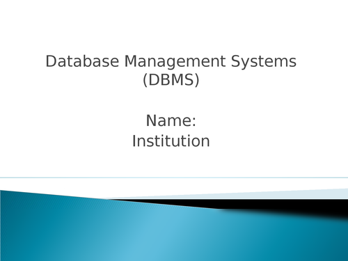 Database Management Systems (DBMS) - Page 1