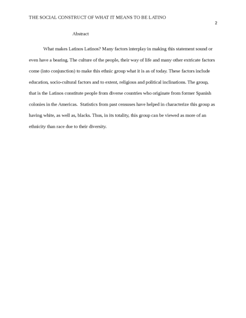 The social construct of what it means to be Latino? - Page 2