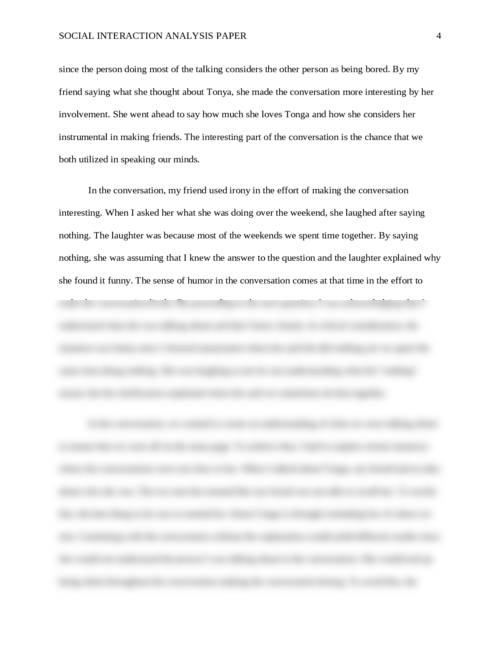 Social Interaction Analysis Paper - Page 4