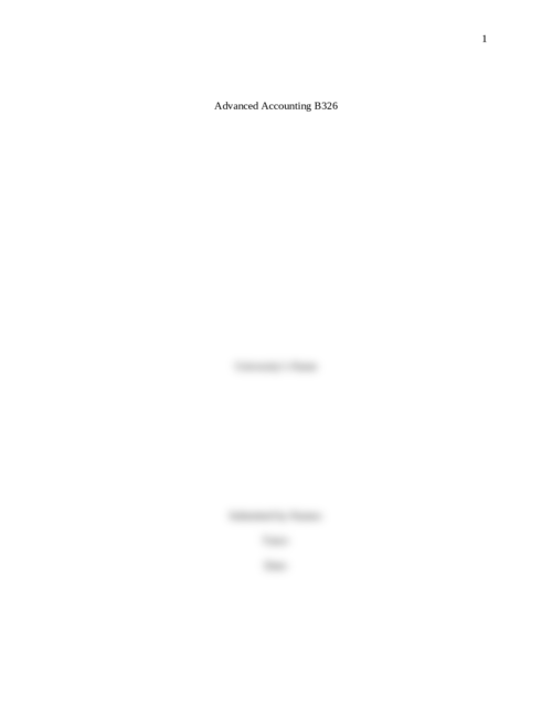 Advanced Accounting B326