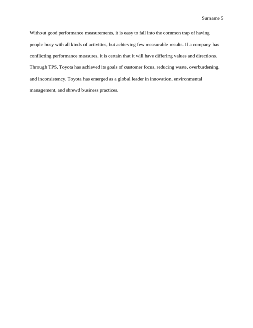 Perfomance measurment in toyota production system - Page 5