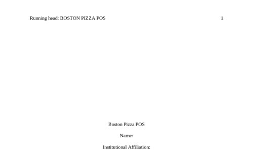 Boston Pizza POS
