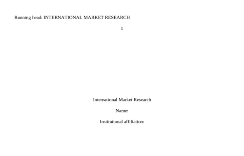 International Market Research