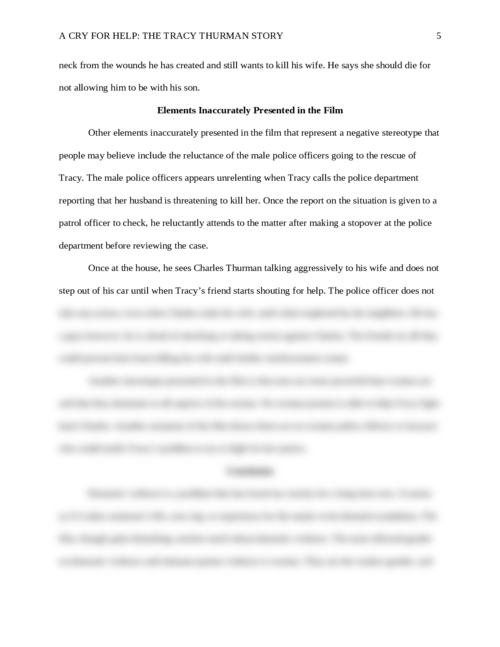 A Cry for Help: The Tracy Thurman Story - Page 5