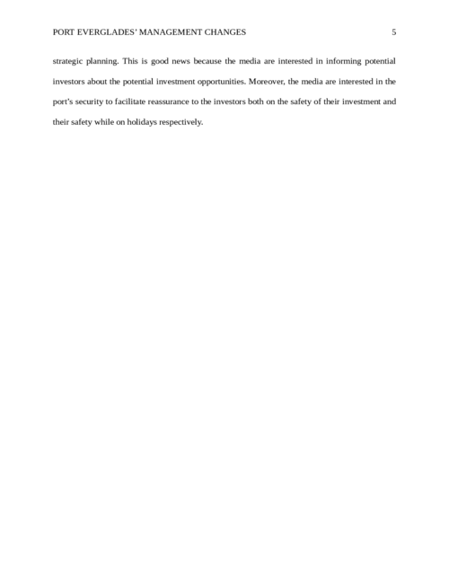 Access Port Everglades situation and recommend changes for management - Page 5